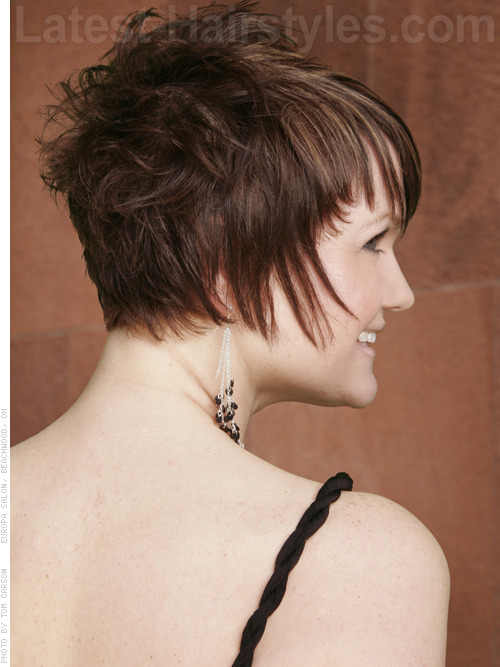 Picture of a short choppy pixie haircut