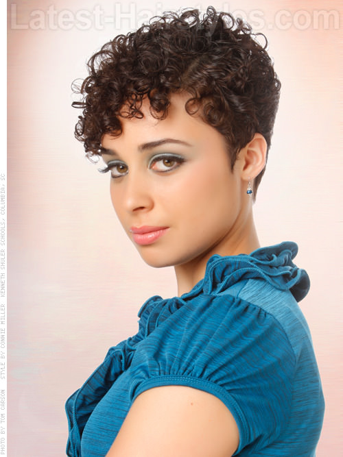 Sweet Short Cropped Curly Look