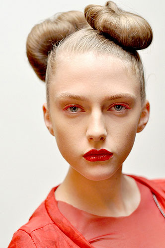 space age high fashion hairstyle