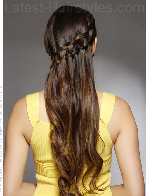 Glamorous Double Waterfall Updo Hairstyle For Prom