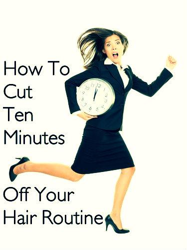 hurried hair routine