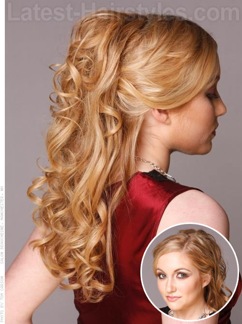 Princess Prom Half Up Down Hairstyle