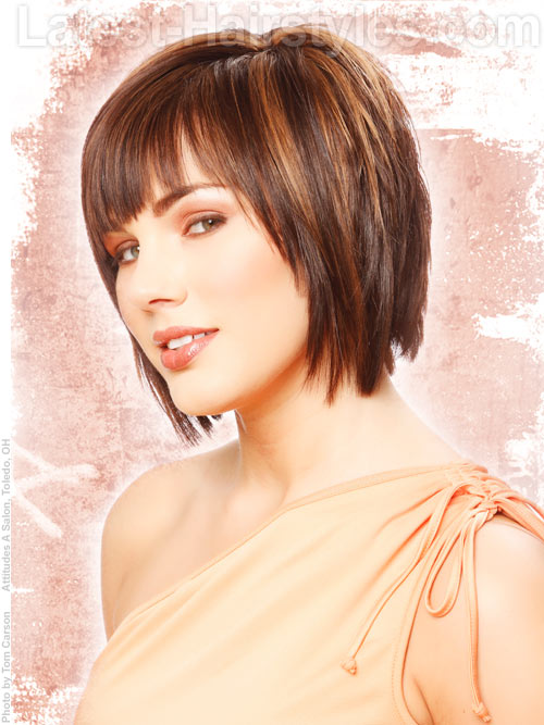 Short and shaggy layered haircut