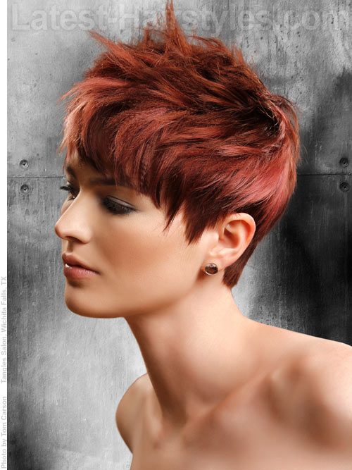 Red short layered hairstyles