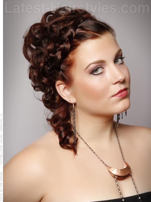 Updo Ambition Long Look Prom Hairstyle Look with Braid and Curls