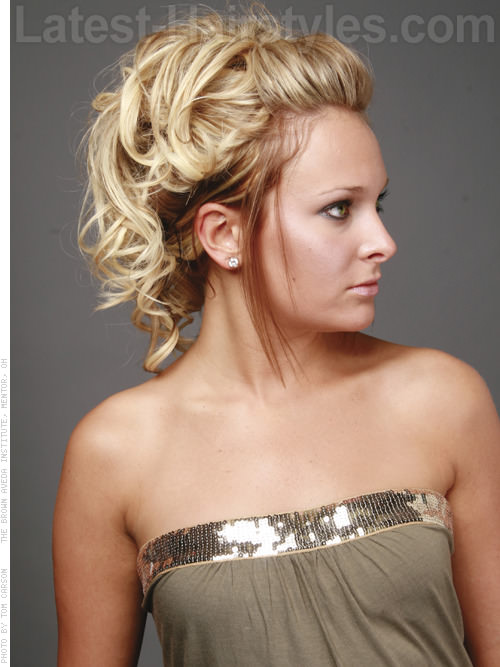 Blonde Hair Color Surprise Curly Updo