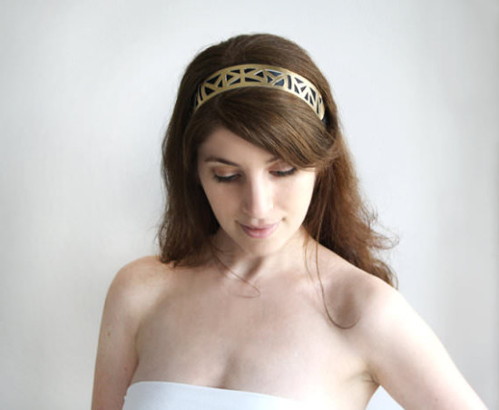 geometric headband prom hair accessories