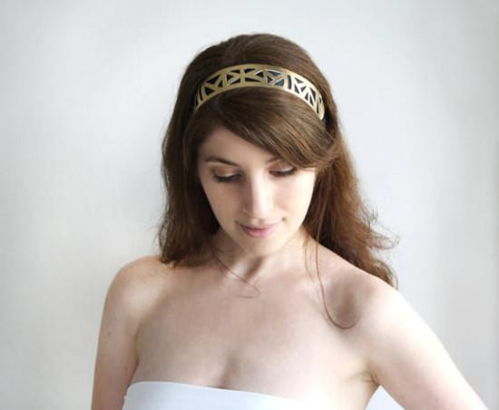 geometric headband prom hair accessories