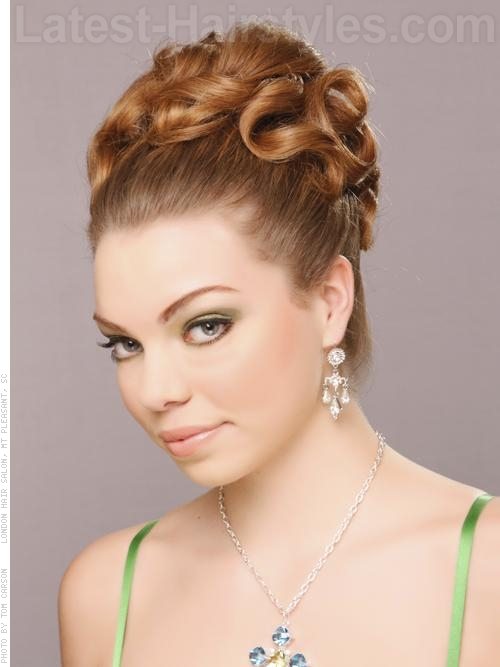romantic updo prom hair rules