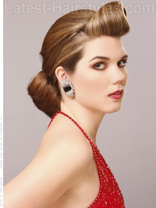 old hollywood vintage-inspired prom hair