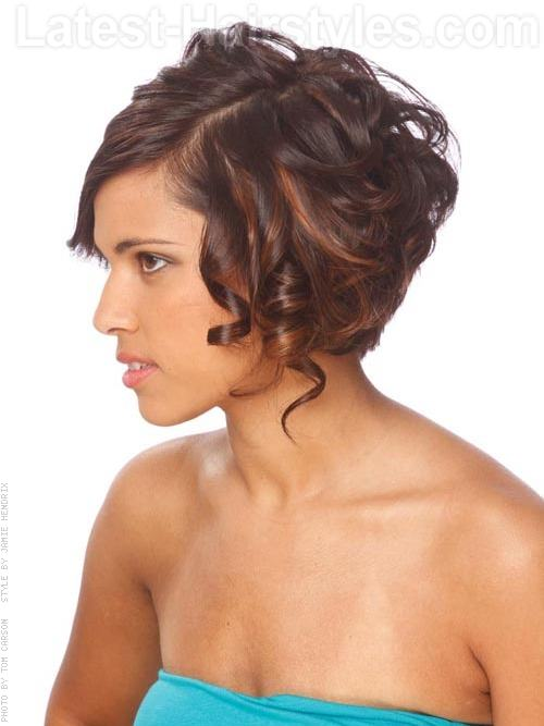 Red Highlighted Casual Chin-Length Bob with Ringlets