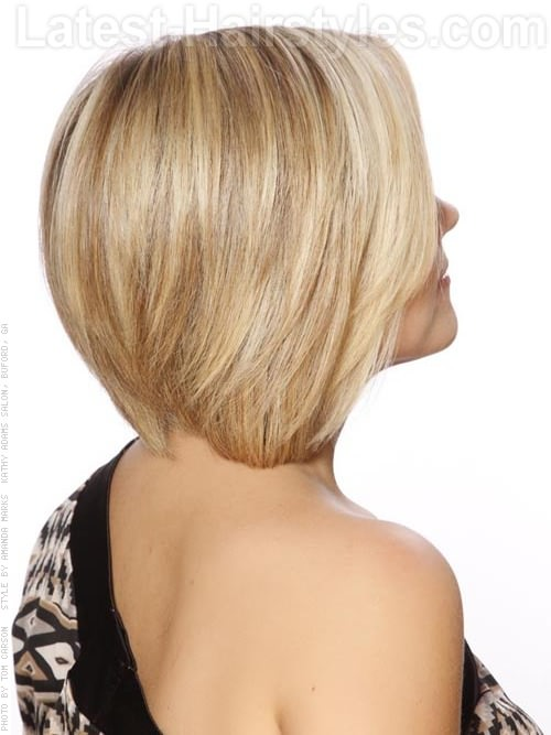 Short Perky Blonde Bob Chin-Length Hairstyles