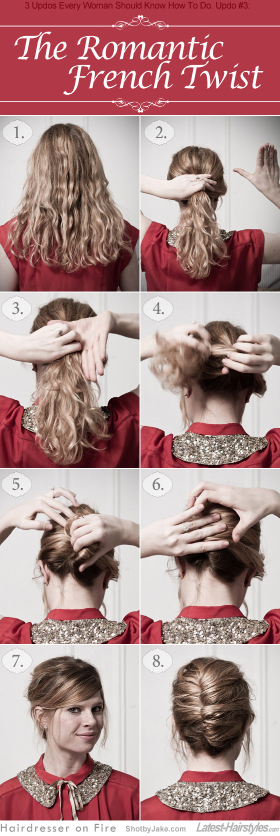 The French Twist hairstyle updo tutorial