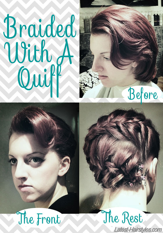 braided with a quiff short hair