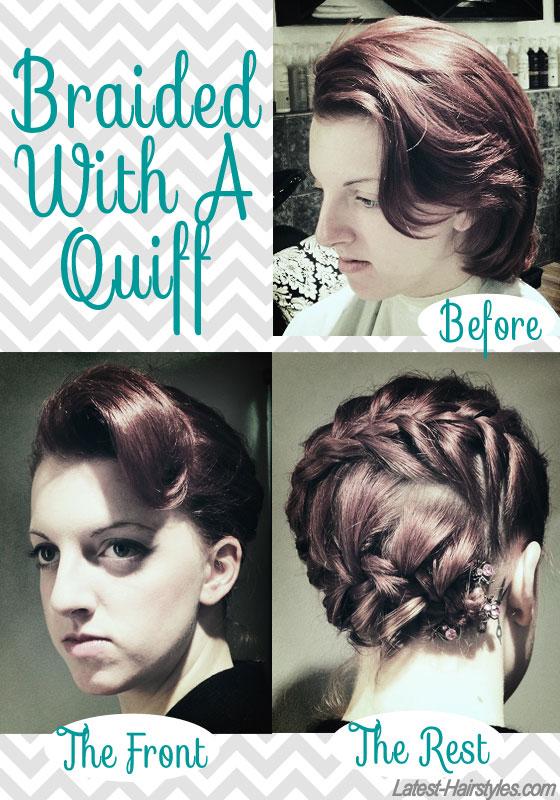 braided with a quiff short hair