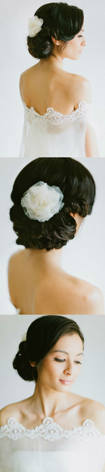 Chignon wedding hairstyle trends