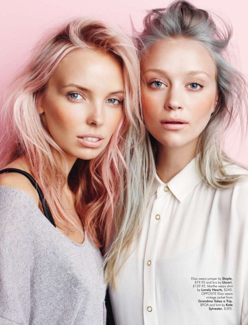Pastel hair color trend for spring