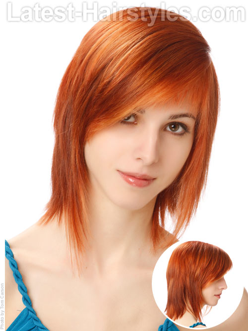 Easy Hairstyle For Bangs : Need some hairstyles for school here are super cute ideas