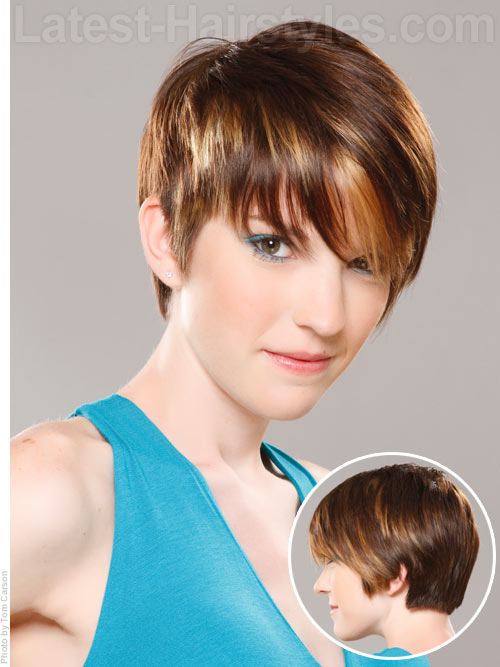 A cute and short hairstyle for back to school
