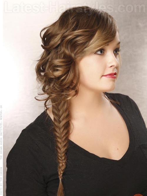 Fish Tail Braid and Waves For School - Side View