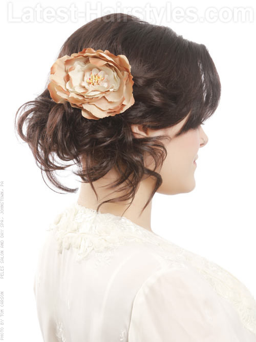 Hair Frills Cute Style with Hair Accessories Side View