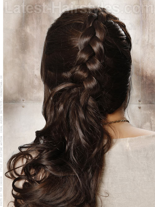 half braided half updo 2