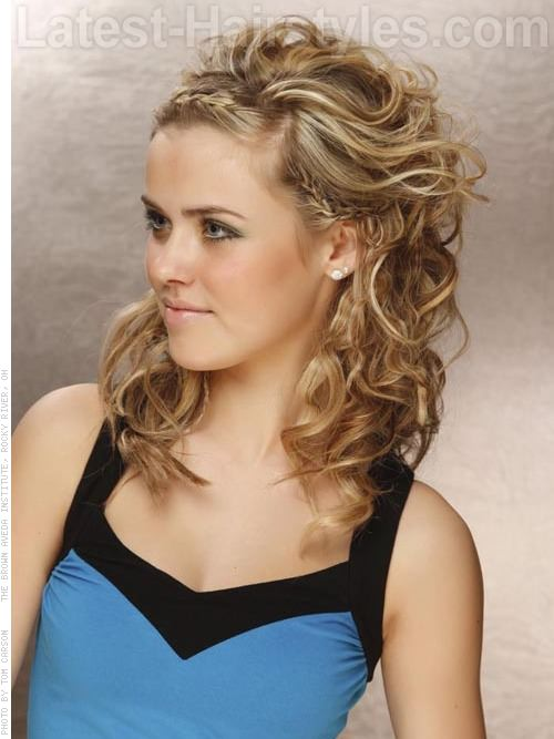 Long Blonde Style with Front Braid - View 2