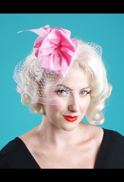 pink pinup hair accessory