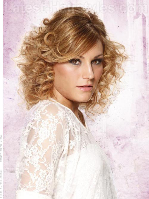 short layered curls