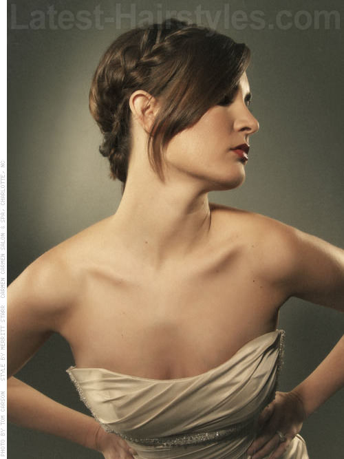 Two Trendy Updo with Side Bangs Side View