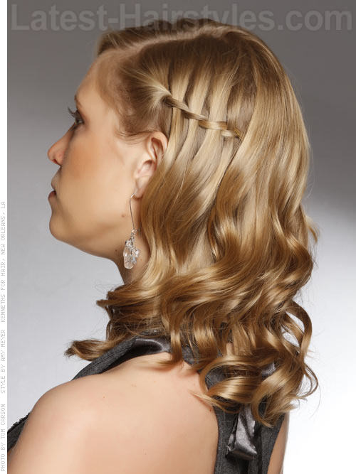 Waterfall Braid Fun Side Braid Medium Length Hair