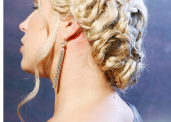 A braided hairstyle for winter formal dance