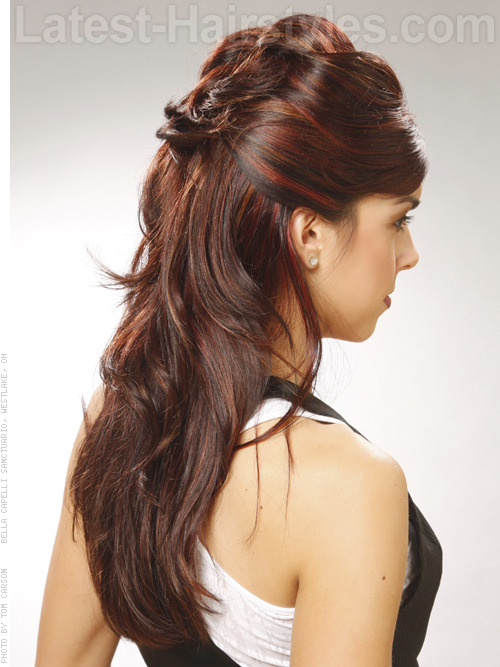 half updo hairstyles 2