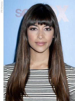 Hannah Simone Long Hair With Bangs