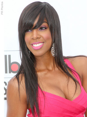 Kelly Rowland With Bangs Amd Long Hair