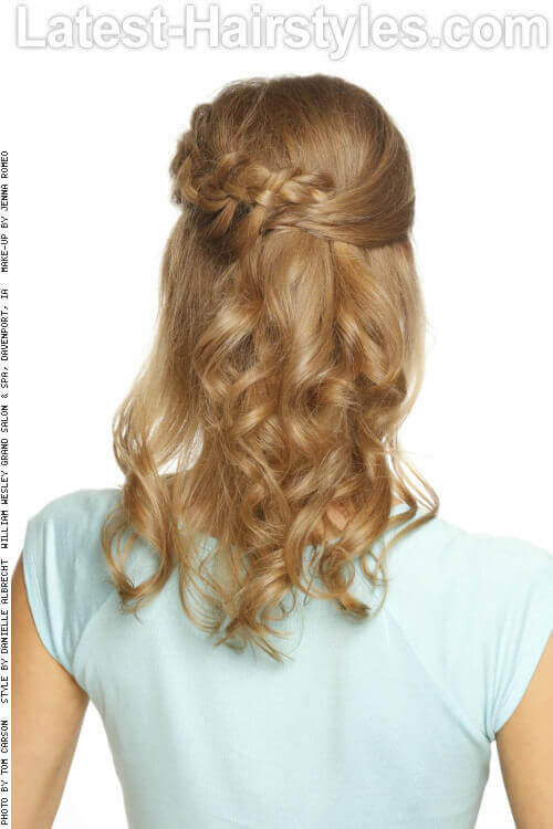 Modern Half Pony with Braid Back