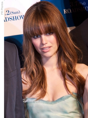 Rachel Bilson with long hair and bangs