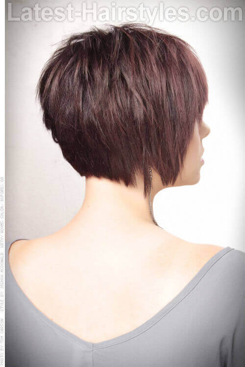 Sleek Short Hairstyle with Texture Back