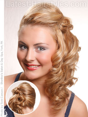 French twist long side ponytail