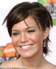 mandy moore with brunette hair color