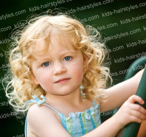 medium curly hairstyles for little girls