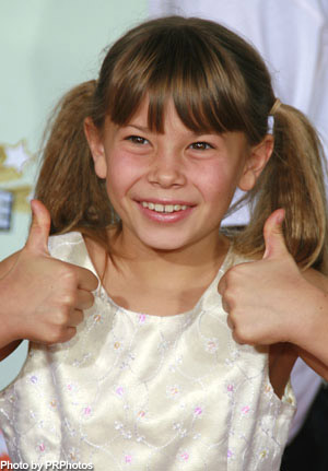 pigtails on bindi irwin