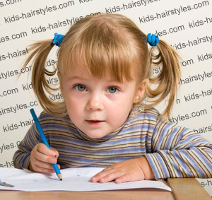 super cute pigtails for little girls
