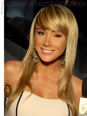 Cute Long And Blonde Hairstyle With Bangs. Photo Credit: PR Photos