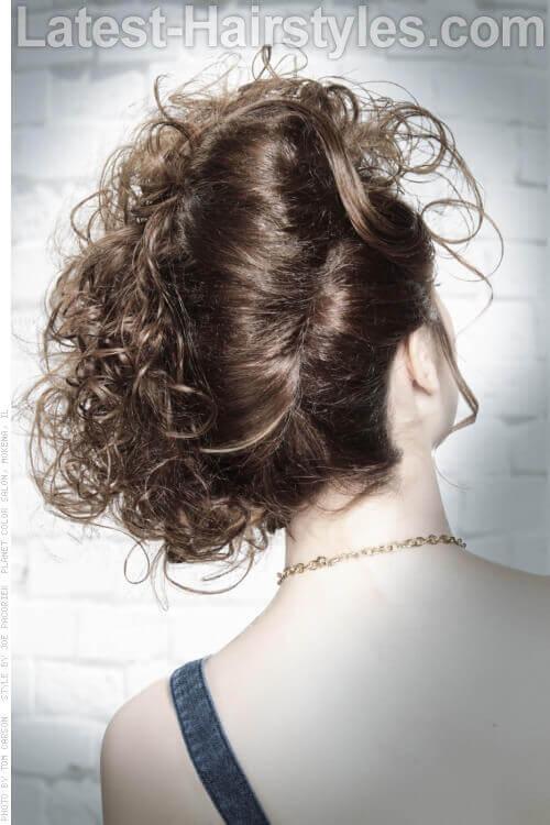 Chocolate Hazelnut Haircolor Back View