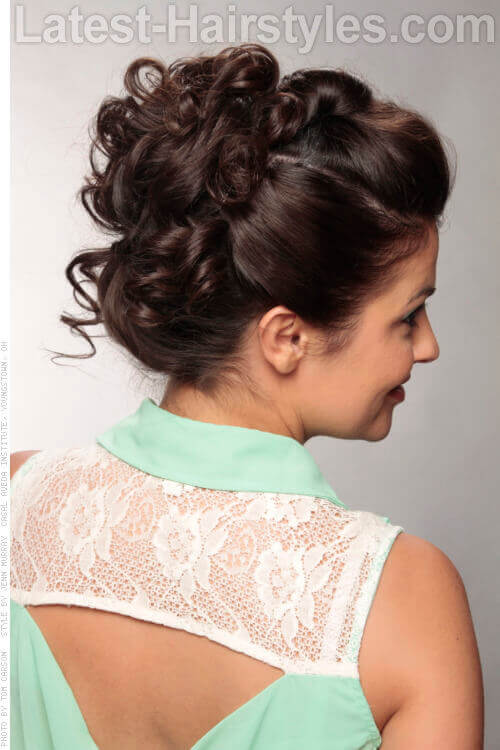 Chocolate Lace Haircolor Back View