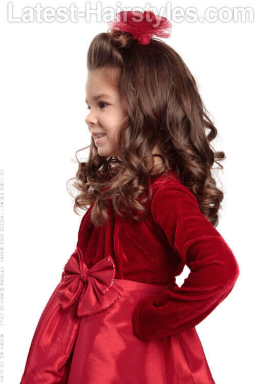 Holiday Hairstyle for Little Girls Side