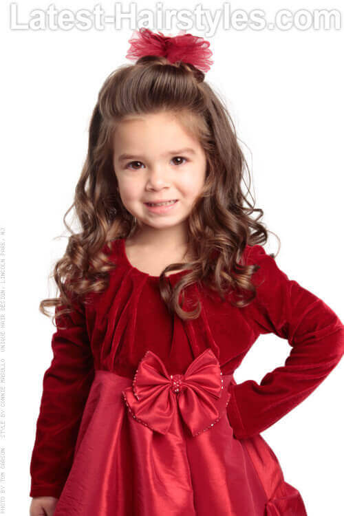 Holiday Hairstyle for Little Girls