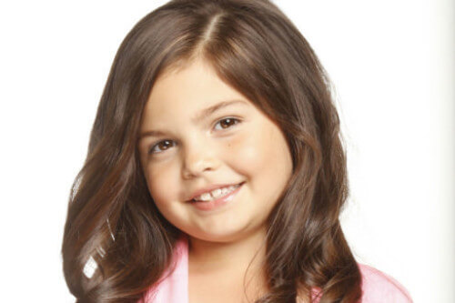Long Hairstyle for Little Girls with Soft Curls