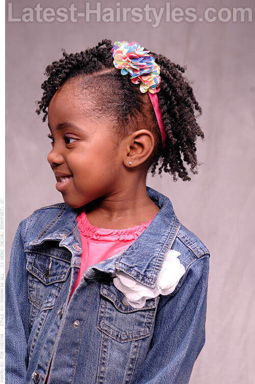 Sassy Hairstyle for Little Girls Side